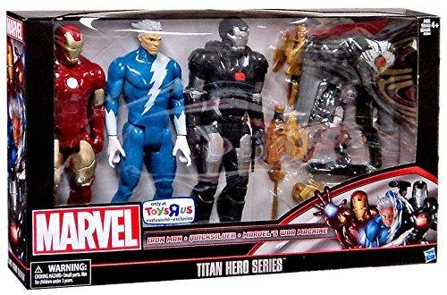Marvel Titan Hero Series 12 Action Figure 3-Pack Iron Man Quicksilver War Machine