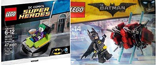 Lego Super Heroes DC Comics Batman in The Phantom Zone 30522  The Joker Bumper Car 30303 Lego Joker Mini Figure with Pie mini Batman Figure DC Universe