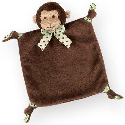 Bearington Baby Plush Monkey Baby Blankie - Bearington Wee Giggles by Bearington