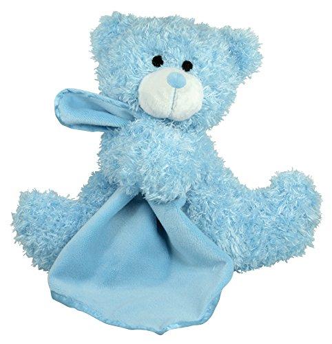 Stephan Baby Super Soft Plush Blankie Buddy Security Blanket Blue Bear