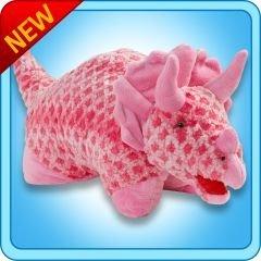 Pillow Pets Large 18 Pink Triceratops Dinosaur