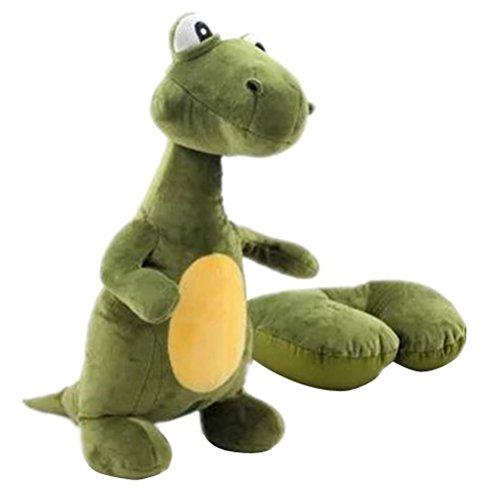 Vkenis U-Shaped Pillow Dinosaur Convertible 2-in-1 Adorable Travel Companion