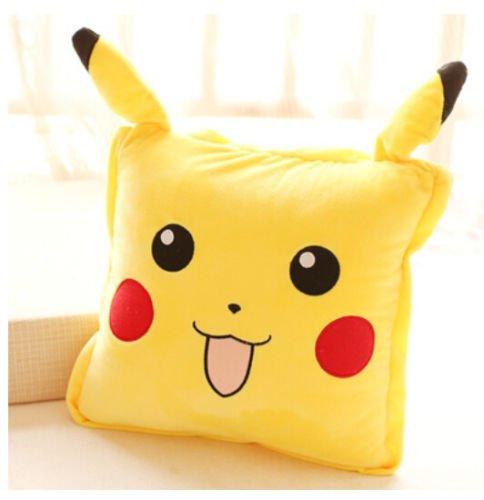 2 in 1 Pokemon Pikachu Big Eyes Summer quilt Pillow Blankets zip cushion