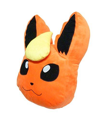 Pokemon 17-inch Eevee Flareon Fleece Decorative Pillow