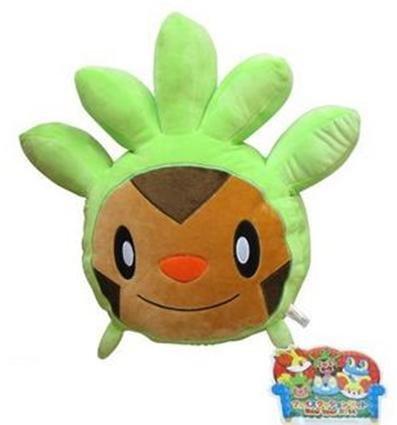 Pokemon Chespin Face Plush Pillow 13x16x4
