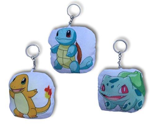 Pokemon Pillow Keychains 3 Piece Starter Pokemon