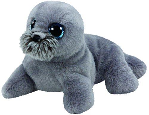 Ty Wiggy Sea Lion Plush Grey Regular