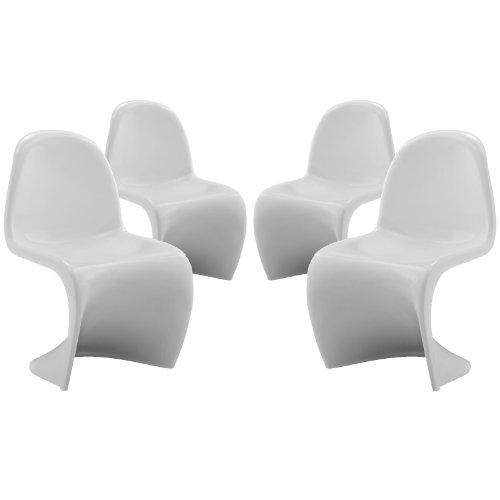 Plutus Brands MF1107 Kids Chair Set of 4 White