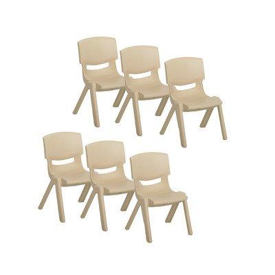 Resin Kids Chair Set of 6 Color Sand