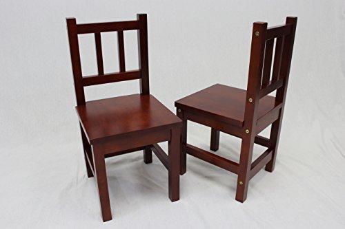 eHemco Solid Hard Wood Kids Chair Set of 2 Cherry