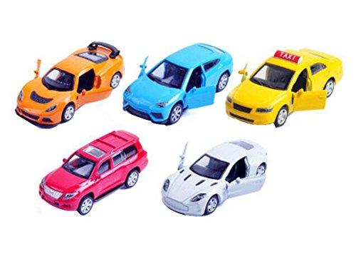 Set of 5 Lovely Mini Cars Model Toys Childrens Toy Cars