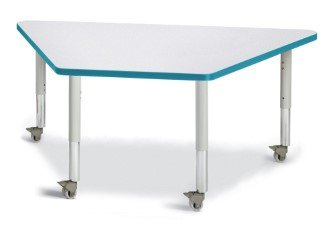 31 in Trapezoid Activity Table with Mounted Legs