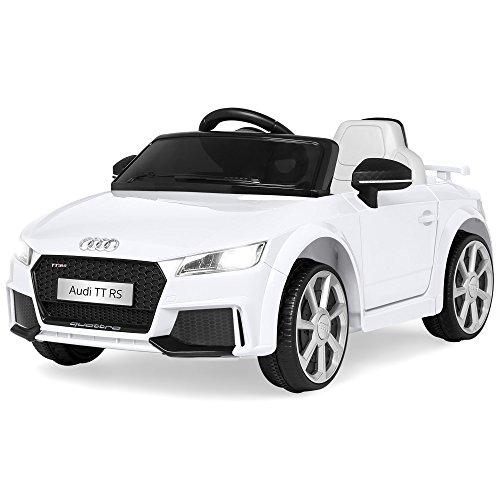 Best Choice Products 6V Kids Licensed Audi TT RS Ride On Car w Parent Control 2 Speeds Suspension AUX Input - White