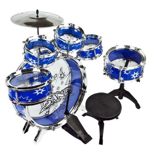 Toys Kids Drum Boy Girl Music 11 piece Drum Set with Stool Children Drum Set OY - Country  United States