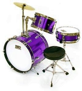 TKO 3-piece Childrens Drum Set with Throne Cymbal - Purple