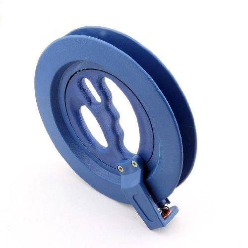 Outdoor Plastic Kite Tool Ballbearing Winding Wheel Reel Line Winder with Lock Blue