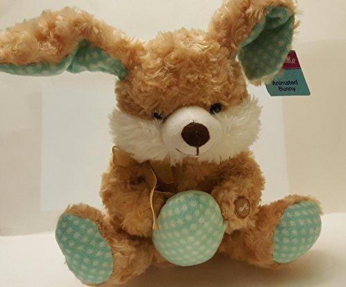 Brown Animated Singing Dancing Rabbit Bunny Stuffed Sitting Plush 10 X 12 Hop Hop HIppity Hop Everybody Do The Bunny Hop