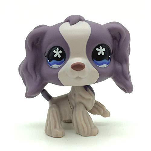 jjlin Rare Mini Pet Shop Purple Cocker Spaniel Dog Puppy Flower Eyes Toy 672