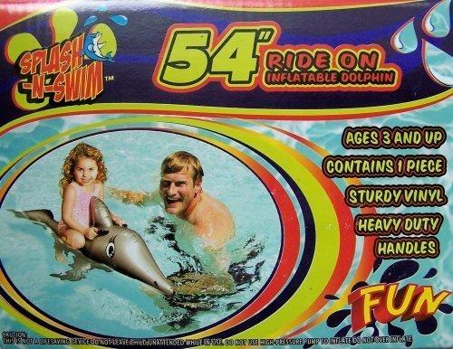 Splash N Swim 54 Ride on Inflatable Whale