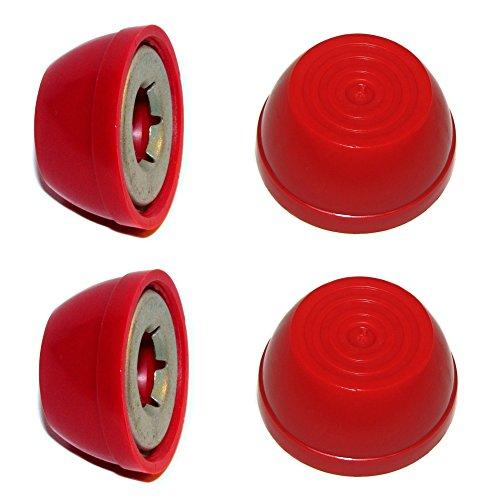 RED Radio Flyer Steel Wood WAGON Replacement Large 12 Wheel Hub Caps 4-pk
