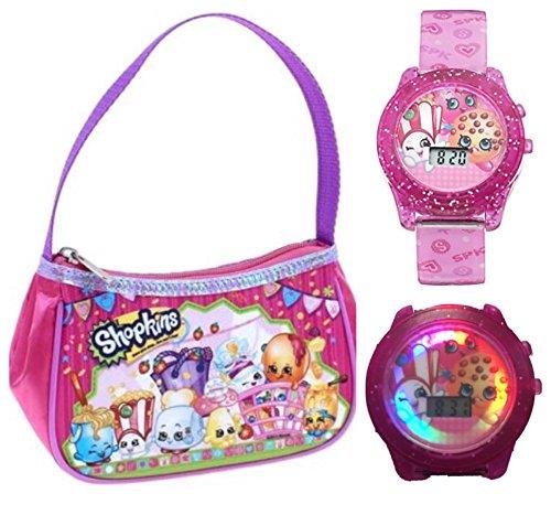 Shopkins Toys Girls Purse and Light Up Watch Set - Pink