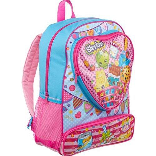 Shopkins Toys Heart Large 16 Front Pocket Kids Backpack