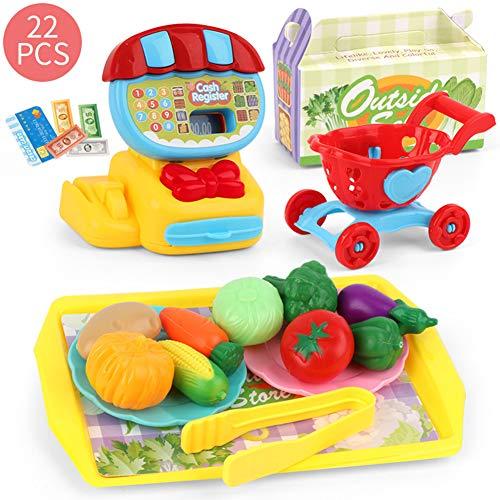 zhenleisier Kid Creative Kitchen Play House Toys Shop Cash Register Fruit Vegetable Dessert DIY Puzzle Toy Interactive Development Educational Kids Toy Gift Fruit