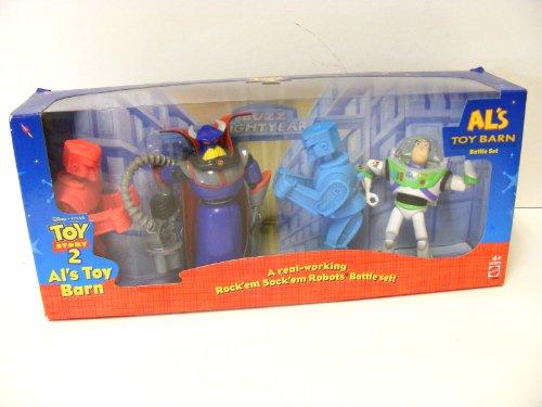 Disney TOY STORY 2 ALs Toy Barn Battle Set ROCKEM SOCKEM Robots Buzz Lightyear Evil Emperor Zurg New In Box Rare Hard to Find Mattel