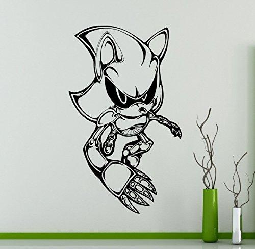 Sonic Hedgehog Vinyl Decal Sonic Wall Vinyl Sticker Video Game Cartoons Home Interior Children Kids Room Decor 14snc