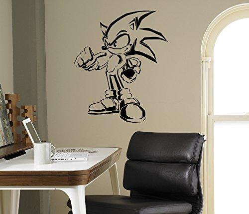 Sonic Hedgehog Vinyl Decal Sonic Wall Vinyl Sticker Video Game Cartoons Home Interior Children Kids Room Decor 17snc