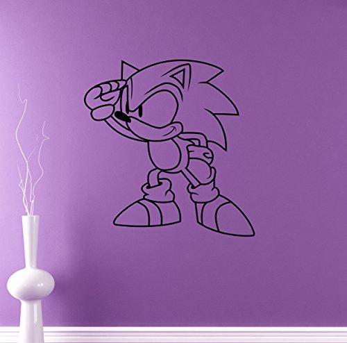 Sonic Vinyl Decal Sonic Hedgehog Wall Vinyl Sticker Video Game Cartoons Home Interior Children Kids Room Decor 1snc