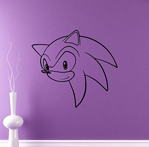 Sonic Vinyl Decal Sonic Hedgehog Wall Vinyl Sticker Video Game Cartoons Home Interior Children Kids Room Decor 12snc