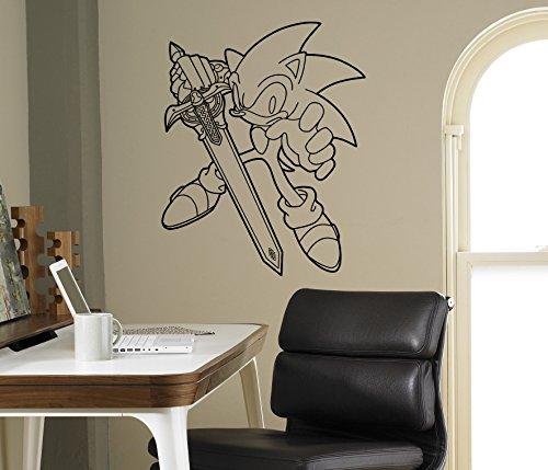 Sonic Vinyl Decal Sonic Hedgehog Wall Vinyl Sticker Video Game Cartoons Home Interior Children Kids Room Decor 8snc