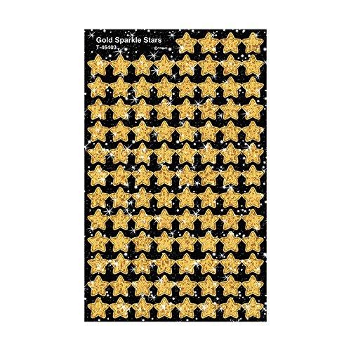 Trend Enterprises Sparkle Stars Stickers 400 per Package Gold T-46403