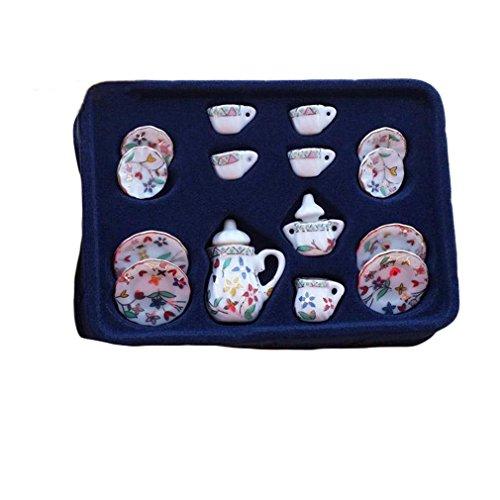 Remeehi Ceramic Tea Set Toy Tea Party Toy Set C
