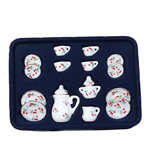 Remeehi Ceramic Tea Set Toy Tea Party Toy Set F