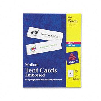 Tent Cards White 2-12 x 8-12 2 CardsSheet 100 CardsBox