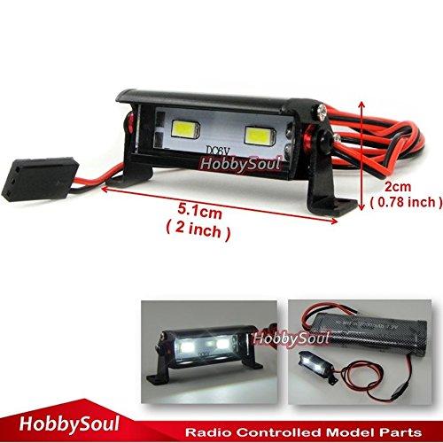 hobbysoul RC Crawler LED Light Bar Aluminum for RC Crawler Truck car Aluminum LED Light Bar 2 LED 36mm