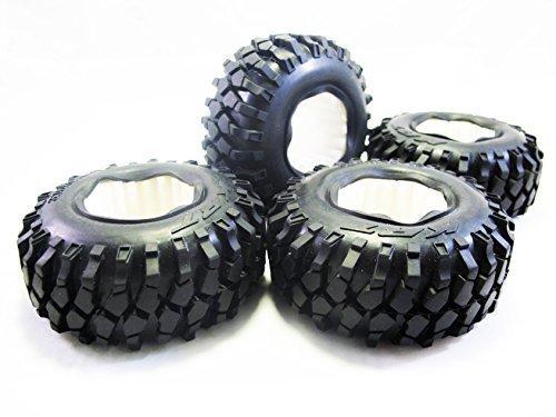 ALIENATE 96mm 19 Inch Tire Set with Foam Insert 375x145in for 110 Crawler SCX10 AX10 - 4 PCS