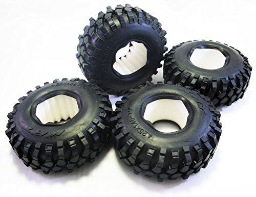 ALIENTAC 108mm 19 Inch Tire Set with Foam Insert 425x145 Inch for 110 Crawler SCX10 AX10 - 4 PCS
