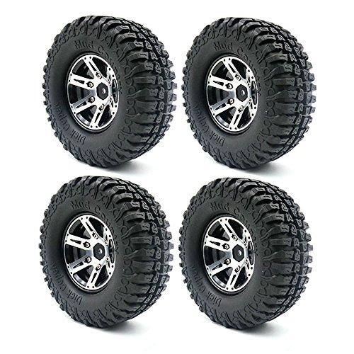 LAFEINA 100mm Rubber Tires 19 Inch Beadlock Wheel Rim for 110 RC Crawler Axial SCX10 Tamiya CC01 D90 D110 RC Car Parts