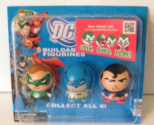 DC Superhero Buildable Figure Set of 6 with Batman Superman Joker Green Lantern Robin and Flash with Bonus Launcher Mini Figure