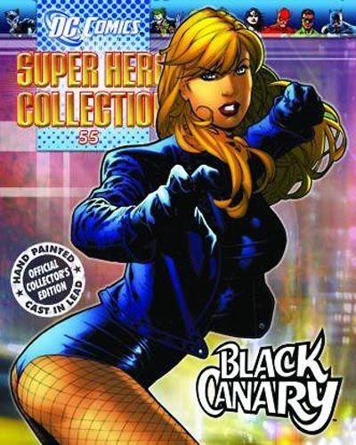DC Superhero Figure Coll Mag 54 Black Canary by Eaglemoss