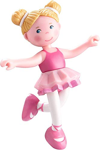 HABA Little Friends Lena - 4 Bendy Ballerina Doll Figure with Blonde Pigtails