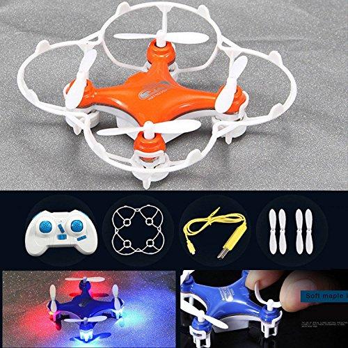 Tsanglight Mini RC Pocket Quadcopter Drone UFO 24GHz 6 Axis Gyro 4CH Headless System UAV - Orange
