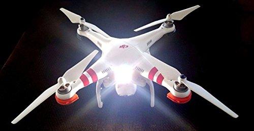 UAV DRONE QUADCOPTER HEADLIGHT SPOTLIGHT LIGHT NO WIRING NEEDED STANDALONE UNIT FOR DJI INSPIRE 1 PHANTOM MAVIC YUNEEC BLADE QUADCOPTERS MULTIROTORS RC