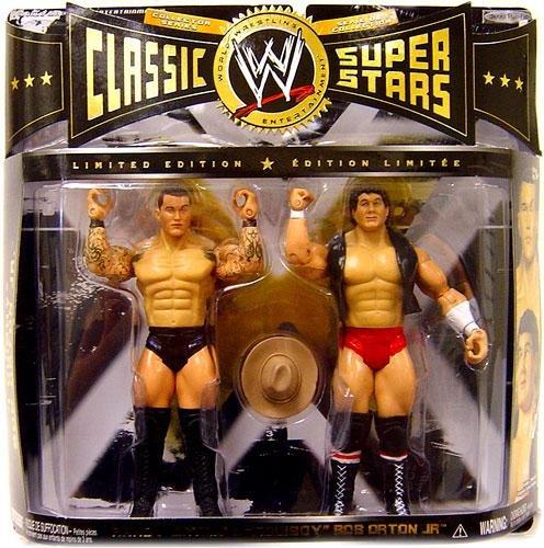 WWE Wrestling Classic Superstars Action Figure 2-Pack Randy Orton Cowboy Bob Orton Jr