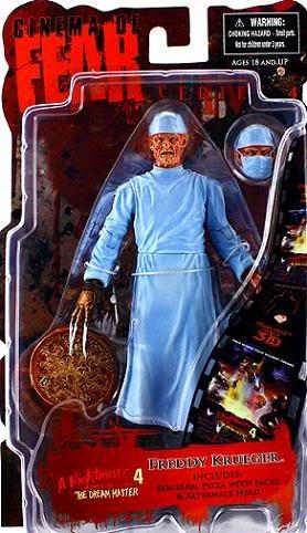 Mezco Toyz Cinema of Fear Series 4 Action Figure Surgeon Freddy Krueger Nightmare on Elm Street 4