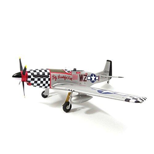 FMS 800mm P51 2nd Fly RTF Brushless Motor RC Jet V2 Radio Control Airplane Black