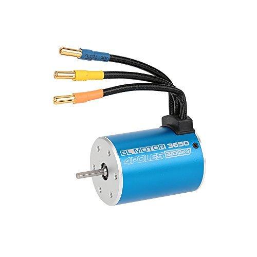GoolRC 3650 3100KV 4 Poles Sensorless Brushless Motor for 110 RC Car